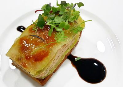 milhojas de foie